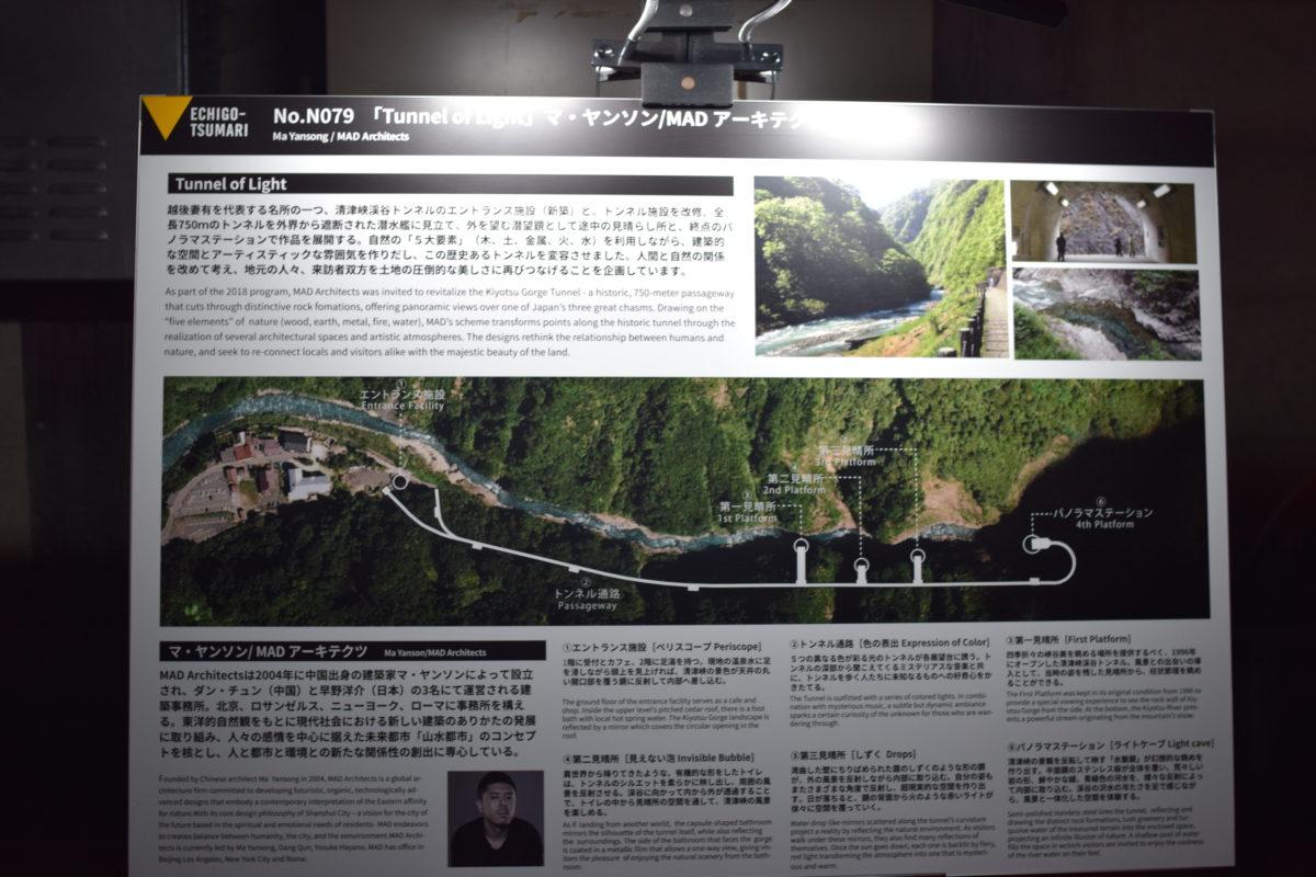清津峡渓谷トンネルマップ